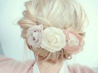 Simple and Sweet Wedding Hair - Twisted and Pulled Back, a low Up-Do for the Bride or Bridesmaids