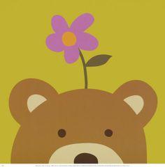 Peek-a-Boo VI, Bear Lámina