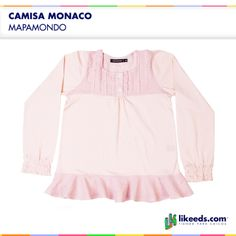 Camisa Monaco de Mapamondo para nenas.  Para conocer talles, colores y comprar ¡Hacé click en la imagen!