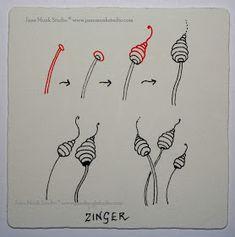 Zinger - Official Zentangle - Super easy pattern