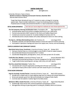 Skills To Include On Resume For Retail  Resume
