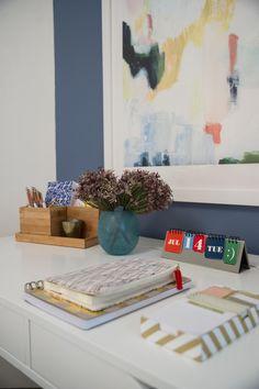 Desk in Blog Cabin's Guest Bedroom
