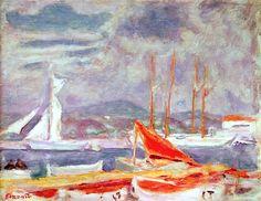 The Port at St. Tropez, c.1914 (oil on canvas), Pierre Bonnard (1867-1947)