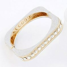 Metal exaggerated point drill and easy temperament bangle