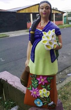 India con flores