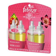 I'm learning all about Febreze Noticeables Thai Dragon Fruit Dual Scented Oil Refills 2 ct at @Influenster!