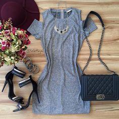 """1,005 curtidas, 32 comentários - L A L E T • Por Layza Aguiar (@laletloja) no Instagram: """"Mais um daqueles vestidinhos bem versáteis que vai bem com tudo! • Vestido tubinho mescla canelado…"""""""
