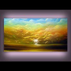 Arte lienzo acrílico grande de pintura Arte Original por mattsart