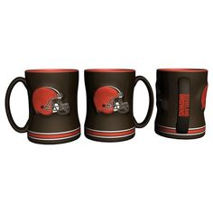 Cleveland Browns 14oz Sculpted Relief Coffee Mug - New UPC