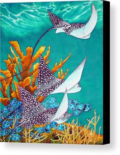 Jean-Baptiste is the world's best silk painting artist. He specializes in tropical art painted in rich vibrant colours. Silk Painting, Artist Painting, Painting & Drawing, Mural Painting, Watercolor Fish, Watercolor Paintings, Sea Paintings, Watercolour, Beach Mural