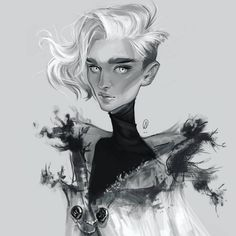 The speed painting to this is up on my YouTube so check it out! (The link is in my bio)  *  *  #art #drawing #sketch #sketchy #painting #digitalart #digital #digitalpainting #monochrome #blackandwhite #portrait #krita #speedpainting #timelapse #youtube