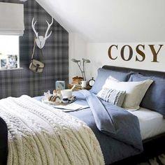 Шотландская клетка в интерьере мужской комнаты :: Фото красивых интерьеров