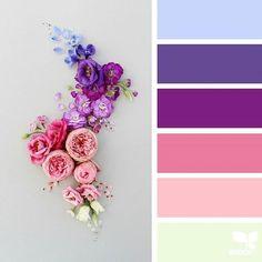 New wedding colors purple design seeds Ideas Color Schemes Colour Palettes, Spring Color Palette, Colour Pallette, Color Palate, Spring Colors, Color Combinations, Color Concept, Design Seeds, Theme Color