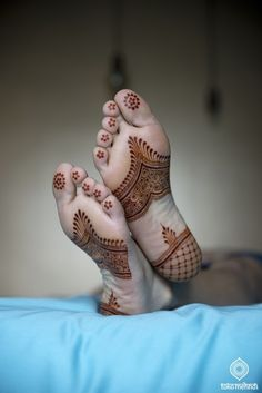 Bridal Mehndi On Feet http://www.maharaniweddings.com/gallery/photo/88637