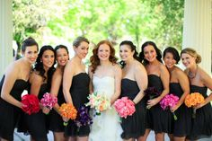 in love with all the different colored bouquets Style Me Pretty | Gallery | Picture | #753840