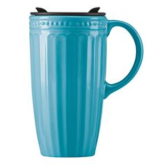 Lenox French Perle Groove Travel Mug with Handle Peacock * You can find out more details at the link of the image.