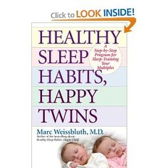 don't waste your time reading the original dr. weissbluth book which is too long. cut to the chase -- this shortened version for twins is quick and to the point. save time where you can - you don't have the same luxury as a singleton parent.