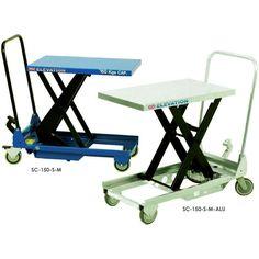 Mobile Single Scissor Lift Tables 150kg to 1,250kg capacity