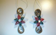 Hanging ornaments - quilling. Mami