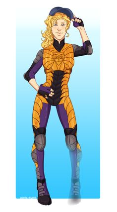 Annabeth as a superhero. Obviously her power is to become invisible