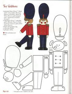 riscos soldadinho de chumbo - nutcracker stuffed toy pattern sewing handmade