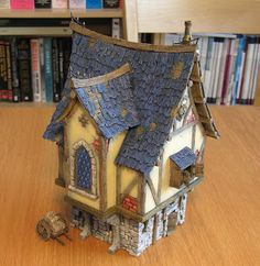 Kevin's Miniatures & Hobby Table: Step-by-Step: Building and Painting Tabletop World's Merchant's House