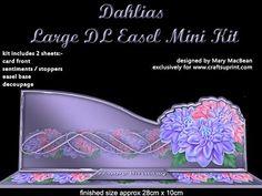 Dahlias Large DL Easel mini kit