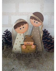 Christmas Wood Crafts, Nativity Crafts, Christmas Nativity, Christmas Signs, Felt Christmas, Rustic Christmas, Christmas Projects, Winter Christmas, Holiday Crafts