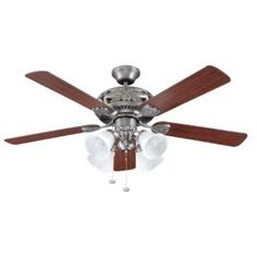 Check out the Ellington Fans GD52AN5C Grandeur 5 Blade 4 Light Ceiling Fan Ceiling Fan in Antique Nickel - blades Included priced at $214.20 at Homeclick.com.