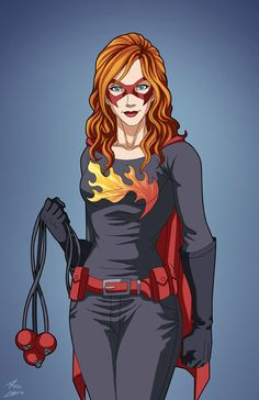 Dark Flame portrait commission by phil-cho.deviantart.com on @DeviantArt
