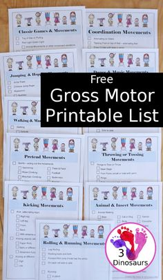 Get Kids Moving With This Gross Motor Printable List