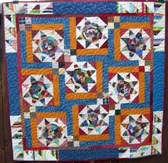 Quiltville's Quips & Snips!!: Out On A String: string pieced diamonds and asymmetrical sashing
