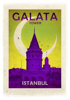 Galata Kulesi - İstanbul - Muhteşem güzellikteki İstanbul silüetinin en önemli sembollerinden biri… 528 yılında inşa edilmiş olup dünyanın en eski kuleleri arasında yer alan, şehrin çağdaşı ve gelenekseli birleştiren özgün yapısını en çarpıcı biçimde ortaya koyan, 70 metre uzunluğundaki Galata Kulesi…