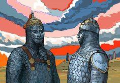 """Arap Şairleri arasında Türkleri ilk öven kişi olarak kabul edilen İbn el Rumi'nin bir şiiri: """"Direnirlerse demirden bir set olurlar;Gözlerimiz o sedde bir dönüp baksa hayretler içerisinde kalır. Bir Ortaya çıkarlarsa,düşman üzerine yalaz saçan ve onları geri püskürten alev olurlar. Gözleri küçük,dünya hükümdarlarıdır;savaşta bir göründüler mi şahsiyet abideleri kesilirler."""" [Kaynak;Mustafa Kılıçlı,Arap Edebiyatında Şuubiyye,İstanbul,1992,s.303-307.;El-Cahiz ve Türklerin…"""