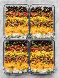 Easiest Burrito Bowl Meal Prep - Budget Bytes - - The Easiest Burrito Bowl Meal Prep that you can put together in about 30 minutes with minimal cooking, chopping, and nothing to pack on the side. Lunch can be easy and tasty! Burrito Bowl Meal Prep, Meal Prep Bowls, Burrito Bowls, Taco Bowls, Chicken Burrito Bowl, Healthy Lunches For Work, Prepped Lunches, Easy Healthy Lunch Ideas, Easy Healthy Meal Prep