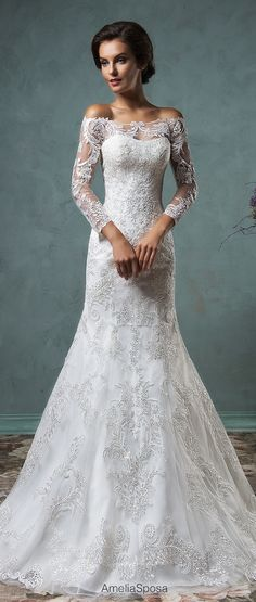 Cheap bridal gown, Buy Quality fashion bridal gowns directly from China wedding dress bridal gown Suppliers: Top Fashion Mermaid Wedding Dresses 2017 Robe De Mariage Vestido De Noiva Sereia Online Shop Vintage Wedding Dress Bridal Gowns Amelia Sposa Wedding Dress, 2016 Wedding Dresses, Wedding Attire, Wedding Gowns, Bridesmaid Dresses, Casual Wedding, Wedding Simple, Wedding Ceremony, Sequin Wedding
