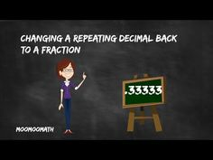 Changing a Repeating Decimal back to a Fraction - Easy shortcut