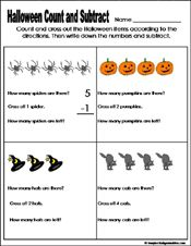math worksheet : halloween math lessons for kindergarten  preschool and  : Halloween Math Worksheets For Kindergarten