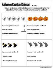 math worksheet : halloween math lessons for kindergarten  preschool and  : Halloween Math Worksheets For Kindergarten