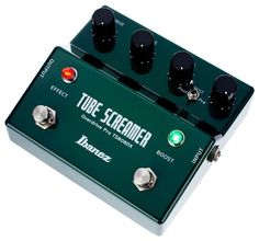 Ibanez TS808DX, e-guitar effect, Tubescreamer, next generation of the classical Tube Screemer with built-in booster, controls for: Overdrive, Tone, Level and Boost, minitoggle for boost operation: Pre/Post, 2x Status LED, battery operartion...