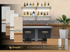 The Sims Resource: Decorative Bronze Accents by Emerald • Sims 4 Downloads