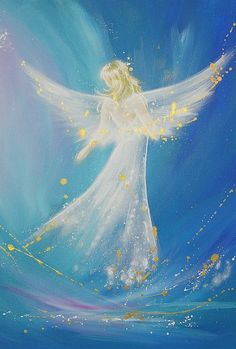 Title: accompanied on your way - 8 x 12 inches - glossy - limited photo of one of my paintings Angels are light natures, which belong to a higher mental dimension. Take the protective strength of the angels to your home. Take up their affectionately supporting strength to your life. Angel accompany us on our way and inspire everyone of us in a completely special and individual way. They protect and touch our spirit and our soul with love, tenderly and strongly they give us hope, donate so...