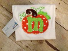 Applique Pumkin Patch Shirt/ Boy or Girl  Halloween Shirt/ Fall Applique Shirt/ Monogram Shirt on Etsy, $20.00