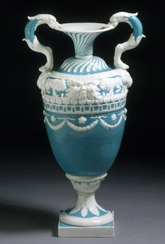 Vase, Derby Porcelain Factory, 1773-1774   Neo-classicism was a style that emerged in Britain and France in the 1750s. The style was based on the designs of Classical Greece and Rome. A major source of inspiration came from archaeological discoveries such as those made at Herculaneum and Pompeii,