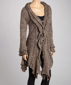 Take a look at this Coffee Linen-Wool Blend Handkerchief Sweater by Pretty Angel on #zulily today!