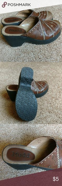 Mudd Clogs Comfy. Durable. Subtle blemishes. Still have a lot of wear left in them. Size 7.5M Mudd Shoes Mules & Clogs