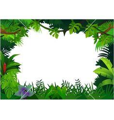 Free Printable Clip Art Borders   Jungle frame vector 506296 - by dagadu