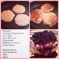 Vi Blueberry lemon Protein Pancakes Recipe