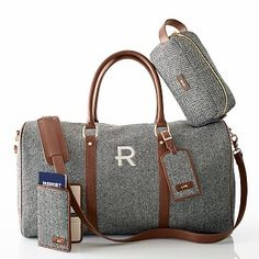 Rank & Style - Mark and Graham Herringbone Weekender Personalised Gifts Unique, Personalized Tote Bags, Unique Gifts, Bags 2015, Honeymoon Gifts, Travel Bags, Travel Backpack, Travel Accessories, Herringbone