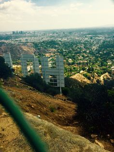 The Hollywood Sign from behind the scenes